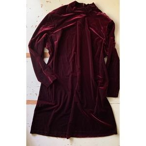 Vintage Ronni Nicole burgundy velvet dress